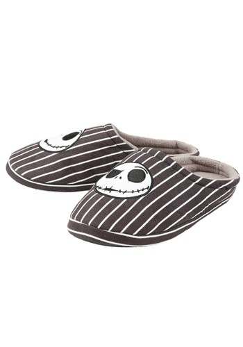 Nightmare Before Christmas Jack Striped Men's Slippers