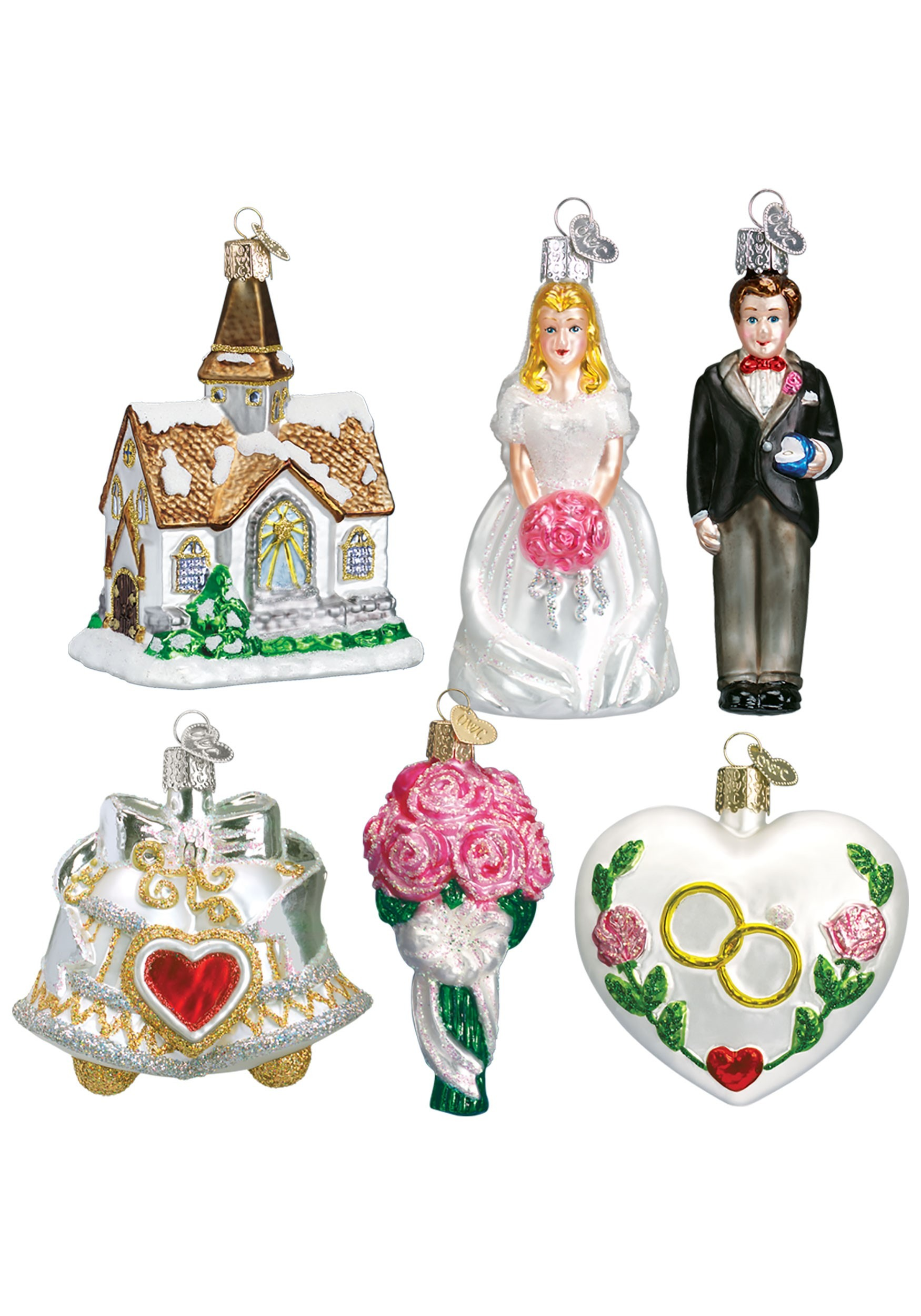 6_Piece_Wedding_Ornament_Collection