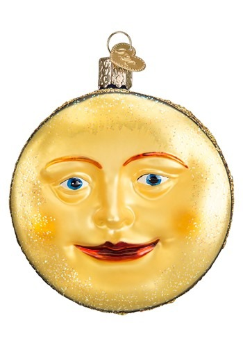 Man on the Moon Glass Blown Hanging Ornament