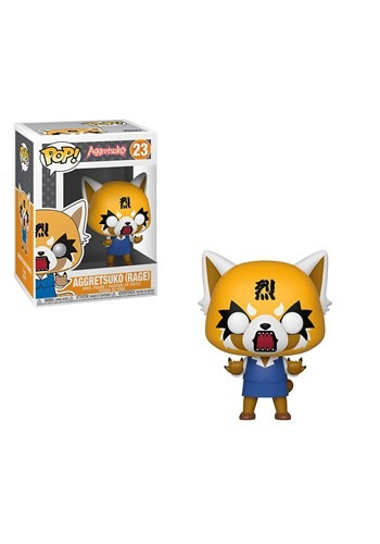 Pop! Sanrio: Aggretsuko- Retsuko w Chainsaw Vinyl Figure