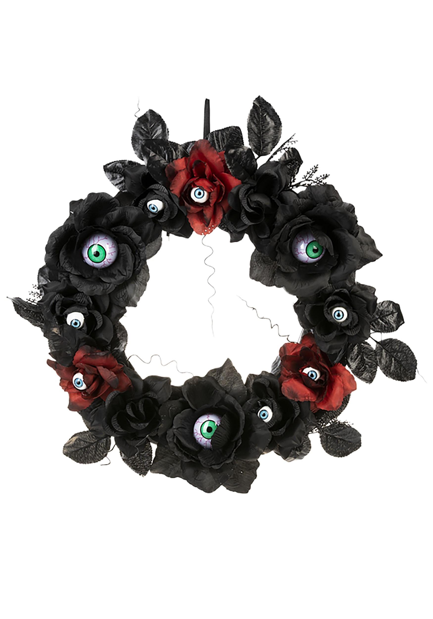 Light Up Eyeball Halloween Wreath