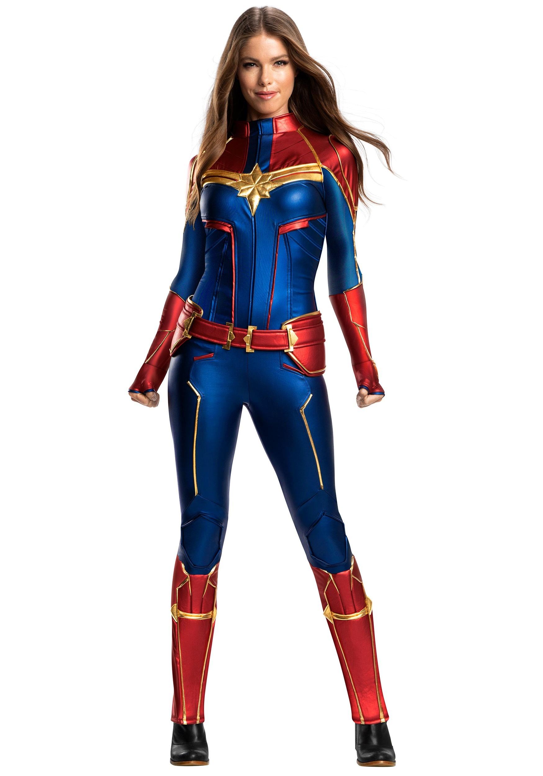 Women S Captain Marvel Grand Heritage Costume Marvel captain marvel 90s grunge patch hoodie. captain marvel grand heritage women s costume