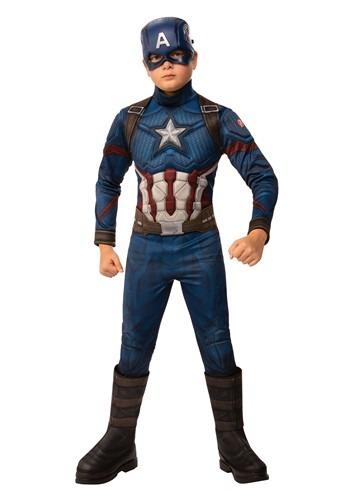 Avengers Endgame Boys Captain America Deluxe Costume