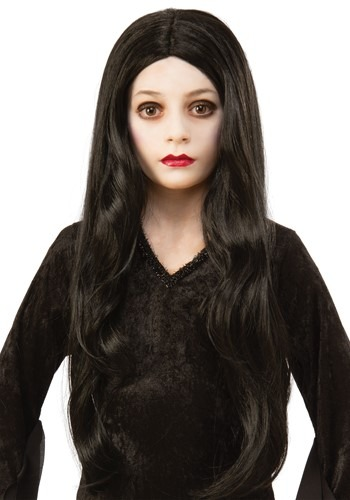 The Addams Family Morticia Kids Wig Accessory