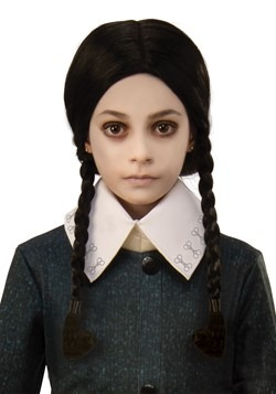 The Addams Family Wednesday Child  Wig Accessory