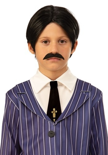 The Addams Family Kids Gomez Wig and Moustache Accessory