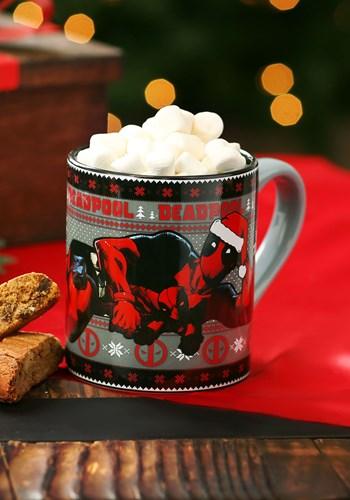 Deadpool Holiday Lounge 14oz Ceramic Mug