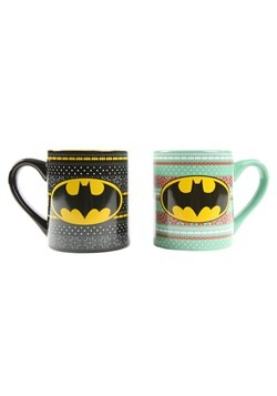 Batman Holiday Sweaters 14oz Ceramic Mug- 2 Pack