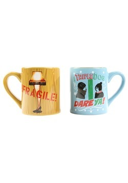 A Christmas Story Triple Dog Dare 14oz Ceramic Mug- 2 Pack