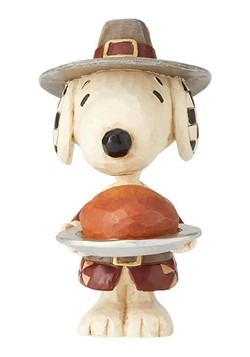 Snoopy Pilgrim Jim Shore Mini Figurine