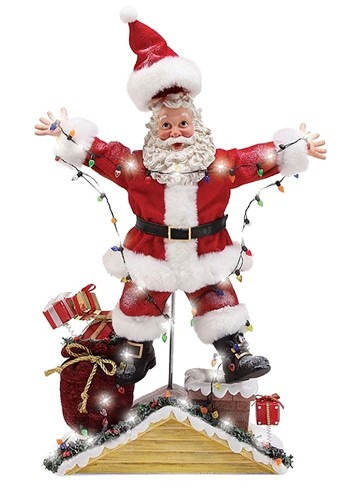 Christmas Vacation Light Up Santa Figurine
