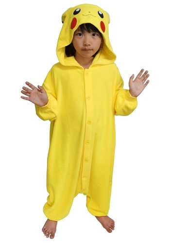 Pokemon Kids Pikachu Kigurumi Costume