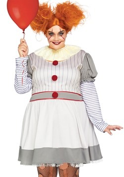 Women's Plus Creepy Clown Costume