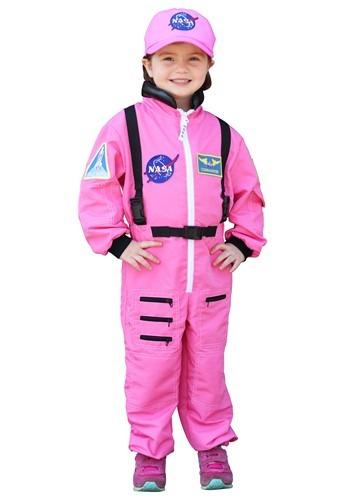 Pink Astronaut Girl's Costume
