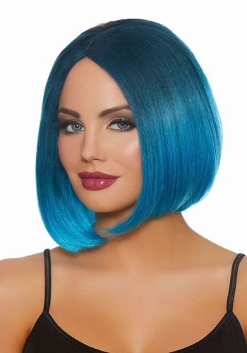 Blue Ombre Wig 1