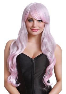 Pink/Gray: Long Wavy Wig 1