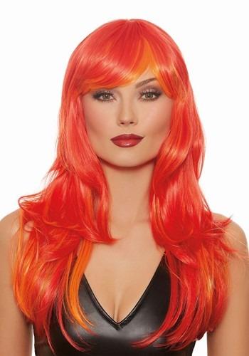Deluxe Orange Wig for Women