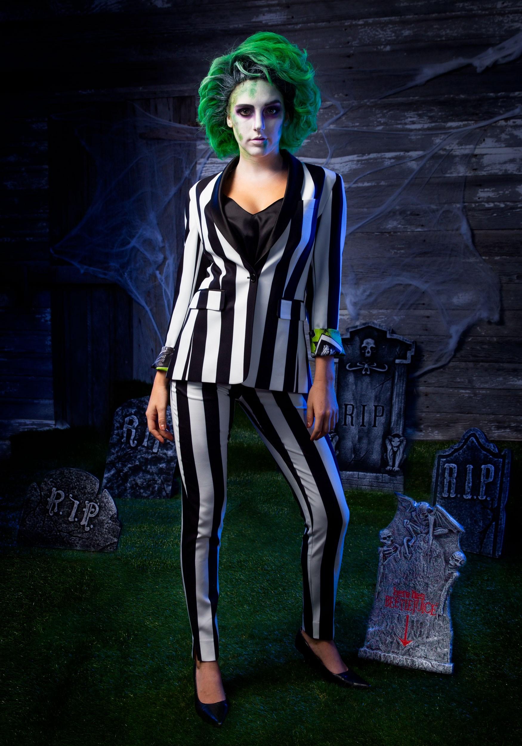 Beetlejuice Suit Blazer For Women Halloween Clothing