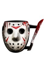 Jason Mask w/ Knife Sculpted Mug