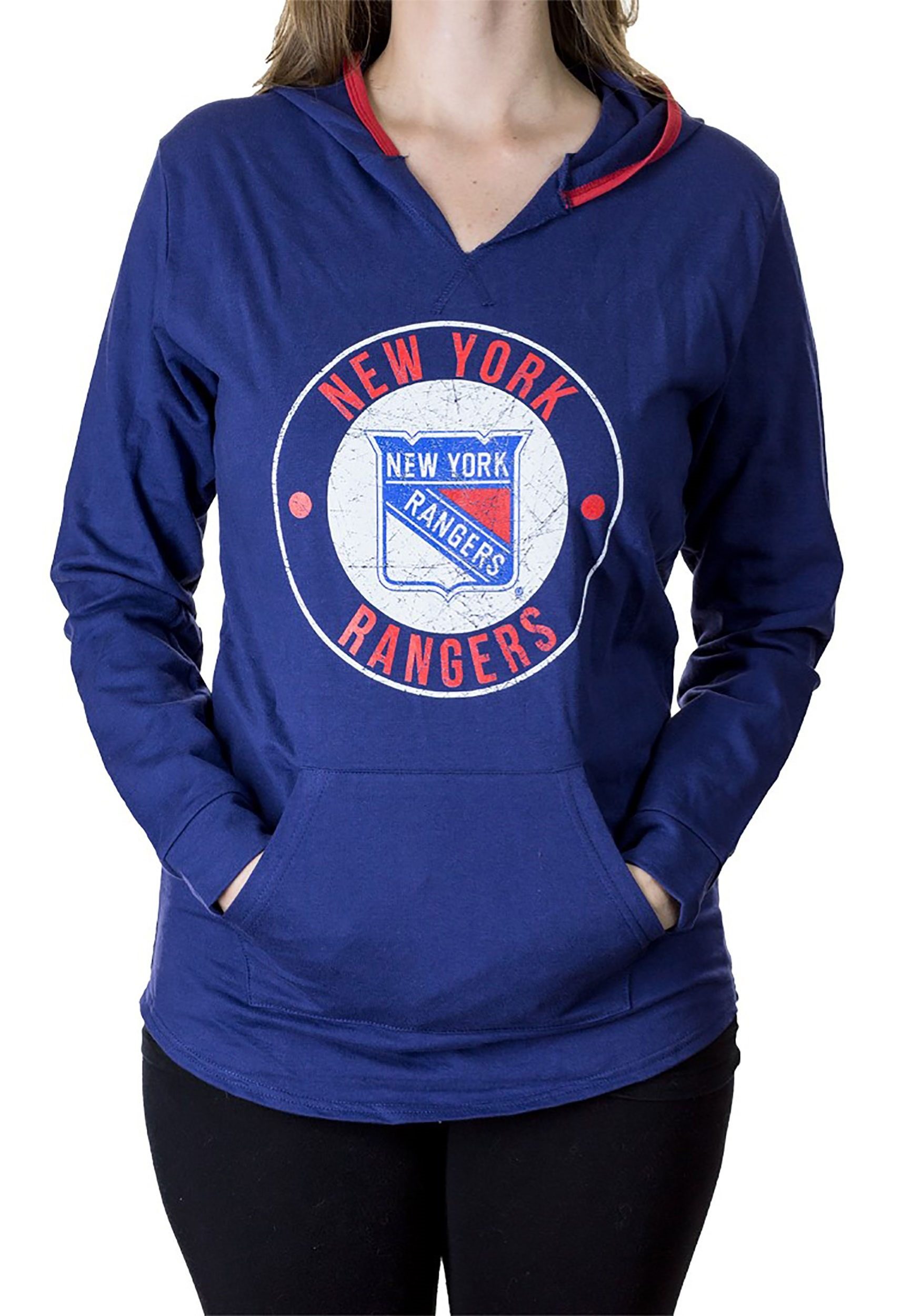 New York Rangers NHL Womens French Terry Fleece Hoodie