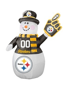 Inflatable Pittsburgh Steelers Snowman