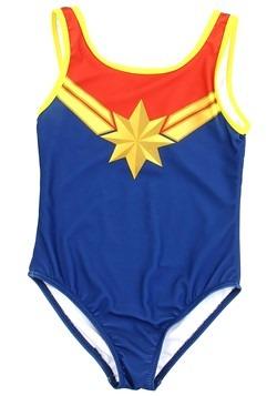 Marvel Comics Captain Marvel Girls Swimsuit