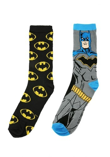 Batman 2 Pair Mens Casual Crew Socks