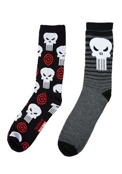 Adult Punisher Charcoal 2-Pack Casual Crew Socks