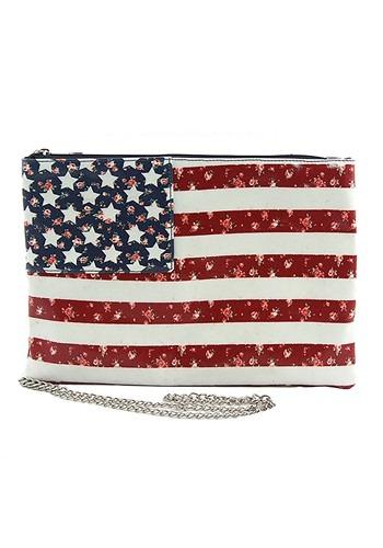 Side Clutch Bag American Flag