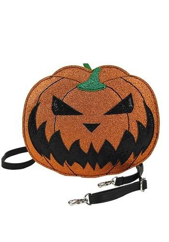 Jack O Lantern Glitter Crossbody Bag