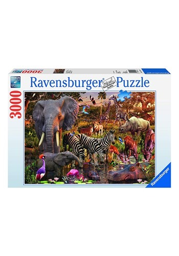 African Animal World 3000 Piece Ravensburger Puzzle