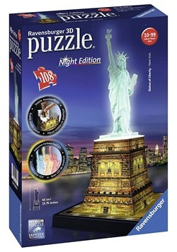 Statue of Liberty Night Edition Ravensburger 3D Puzzle