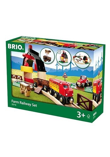 BRIO Farm Railway Train Set