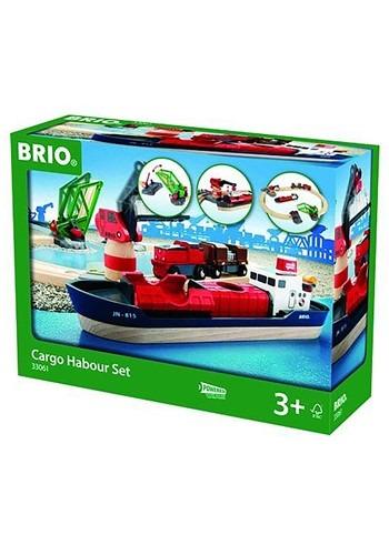 BRIO Cargo Harbour Train Set