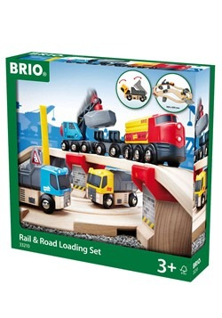 BRIO Wooden Rail & Road Loading Set