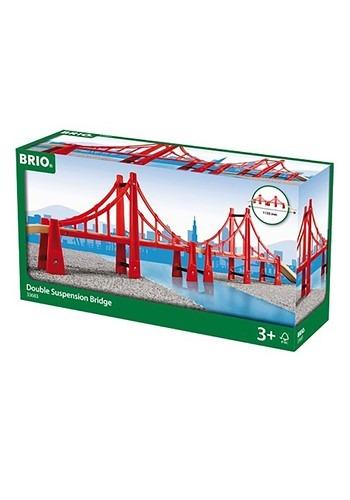 BRIO Double Suspension Wooden Bridge