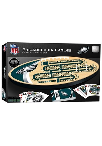 NFL Philadelphia Eagles Cribbage Board Set