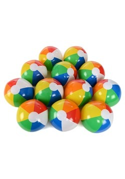 "Rainbow 12"" Beach Ball 12-Pack"