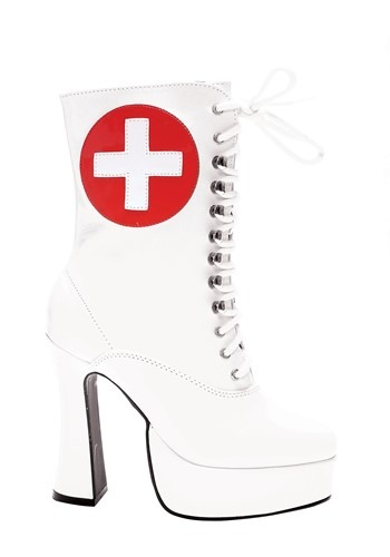 Women's White Nurse Boots1