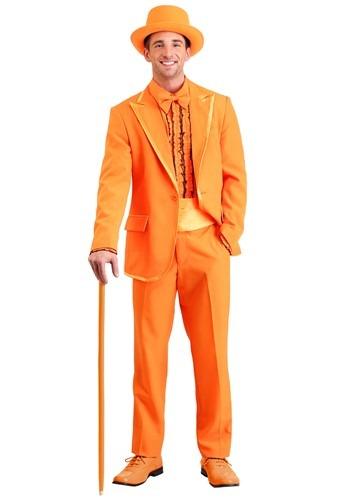 Men's Orange Tuxedo Plus Size Costume