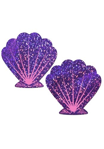 Pastease Purple Shell Mermaid Pasties1