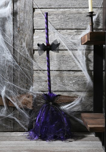 Purple Animated Shaking Broom Decor update