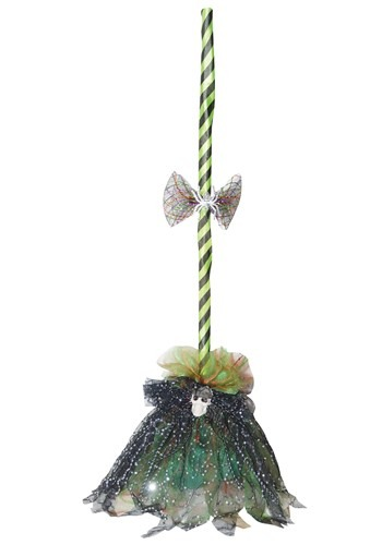 Green Animated Shaking Broom Accessory