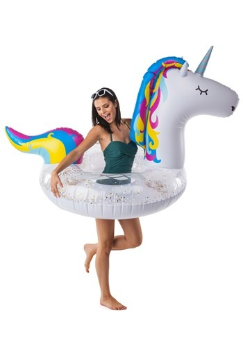 Giant Sparkly Unicorn Pool Float