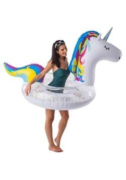 Giant Sparkly Unicorn Pool Float Alt2
