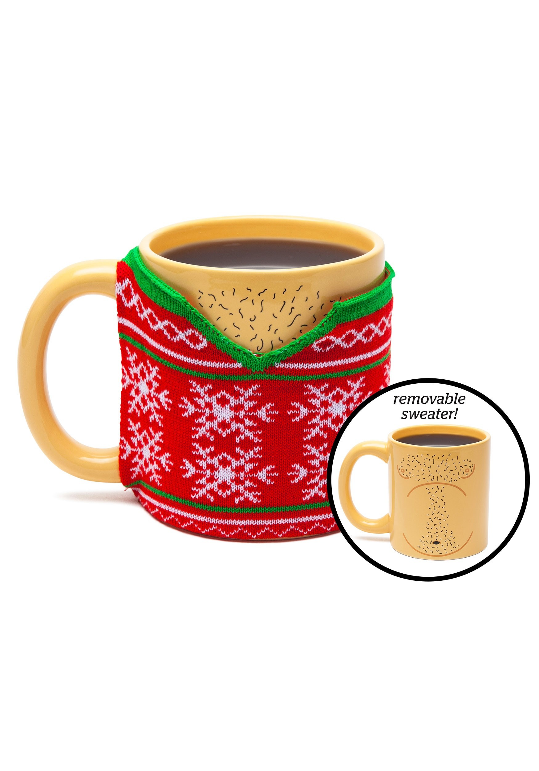 Ugly Sweater w// removable Sweater Mug Adult