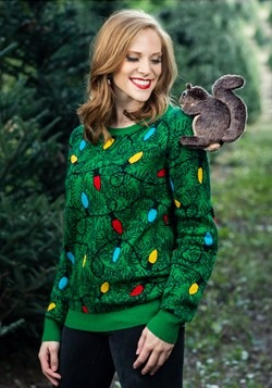 Adult 3D Squirrel in the Christmas Tree Ugly Sweater 1
