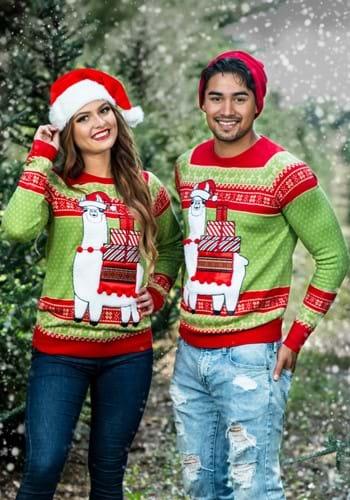 Adult Christmas Llama Ugly Sweater