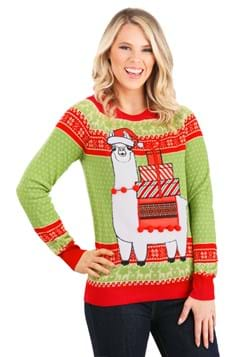 Adult Christmas Llama Ugly Sweater alt10