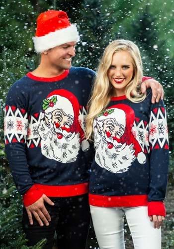 Adult Vintage Santa Ugly Christmas Sweater